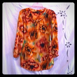 Zac & Rachel multicolored tunic top Lg